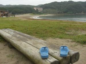 弓ヶ浜の潮で魂を洗う